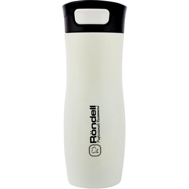 Термокружка Rondell Latte 0,4 л RDS-496 (Нержавеющая сталь/пластик, матовое декоративное покрытие, двойные стенки)