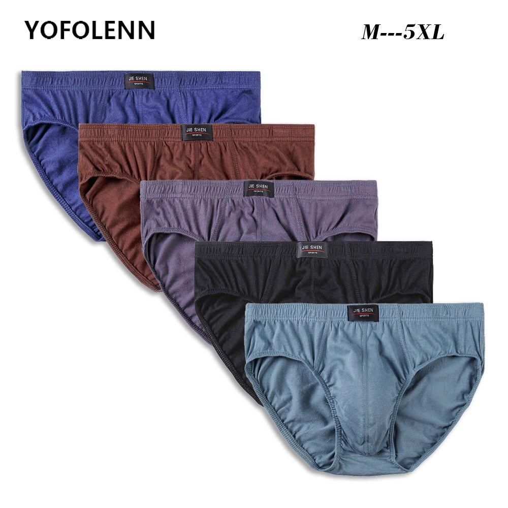 4 Pieces/lot Cotton Men Underwear Sexy Men's Briefs Male Comfortable Underwear Gay Mens Soft Briefs Solid Shorts Male Panties