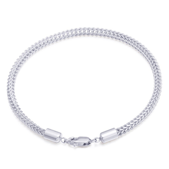 3.8mm Glitzy PT950 Platinum White True Solid Gold Cuban Curb Chain Bracelets Bangles for Women Wedding Engagement Jewelry Gift 1