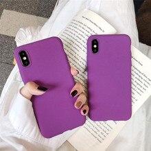 Matte Purple Solid Color Cover Phone Cases For Xiaomi Redmi