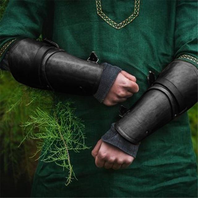 Vintage Steampunk Zelda légende extérieur bras défense brassard COS Imitation cuir main brassards médiéval adulte armure poignées