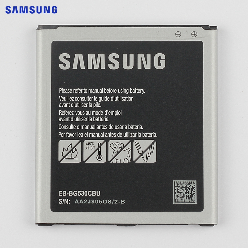 SAMSUNG Original Battery EB-BG530BBC For Samsung Galaxy Grand Prime J3 2016 G5308W G530 G530H G530F G531F E G530FZ EB-BG530CBE samsung original replacement battery eb l1g6llu for samsung galaxy s3 i9300 i9128v i9082 i9308 i9060 i9305 i9308 l710 i535