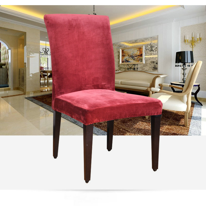 Tremendous Us 7 93 49 Off Winter Velvet Fashion Design Chair Covers Household Detachable Universal Elastic Chair Cover Hotel Chair Covers In Chair Cover From Bralicious Painted Fabric Chair Ideas Braliciousco