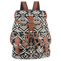 Exclusive New 2017 Handmade National Bohemian Vintage Style Printing Canvas Backpack for Teenage Girls Bagpack Sac a Dos
