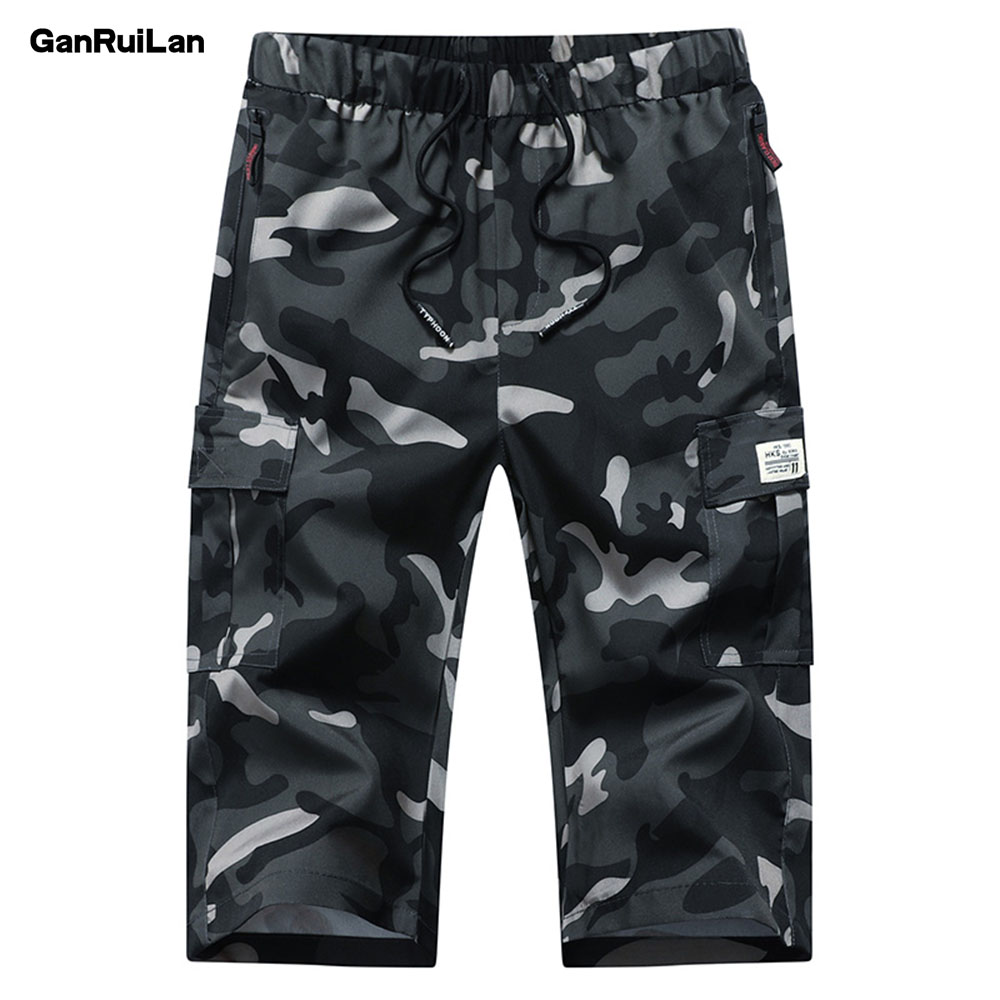 7 Minutes Of Track Tactical Pants Men Polyester Man's Cropped Trousers 2019 Men's Wear Pantalon Hombre Camouflage KZ19002