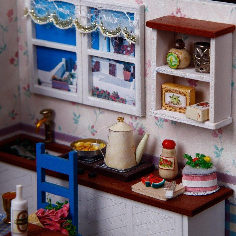 CREO casa de muñecas DIY casa de muñecas de madera miniatura - Muñecas y accesorios - foto 5