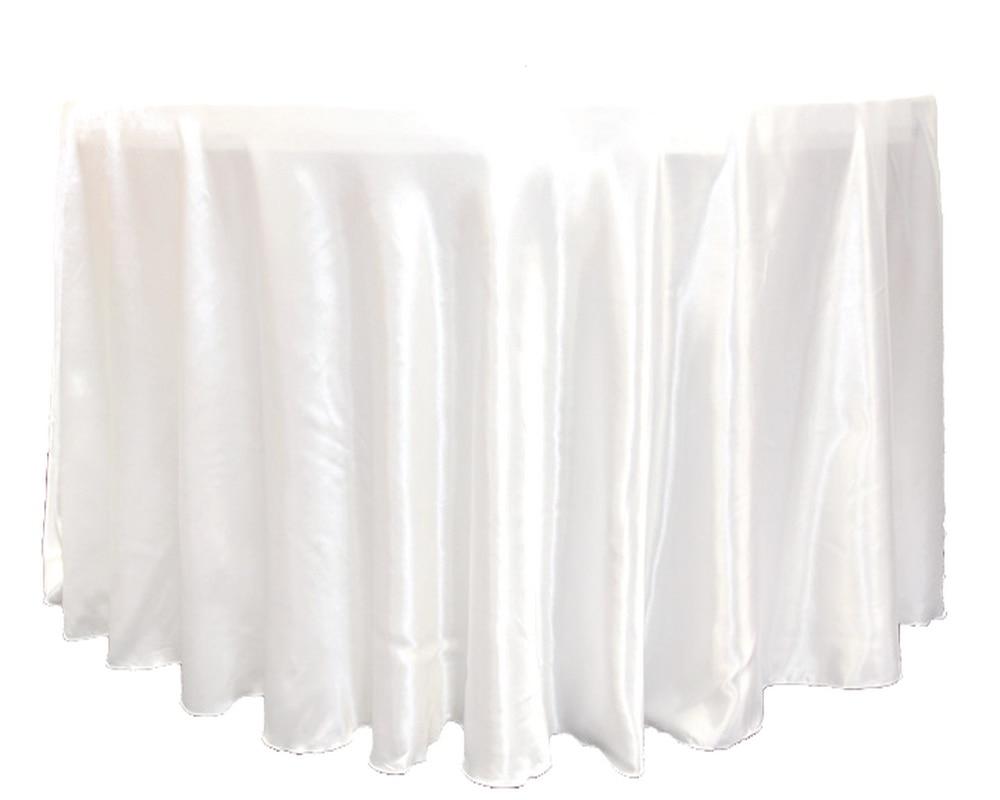 Högkvalitativ Round Satin TableCloth För Bröllop Event Party - Hemtextil