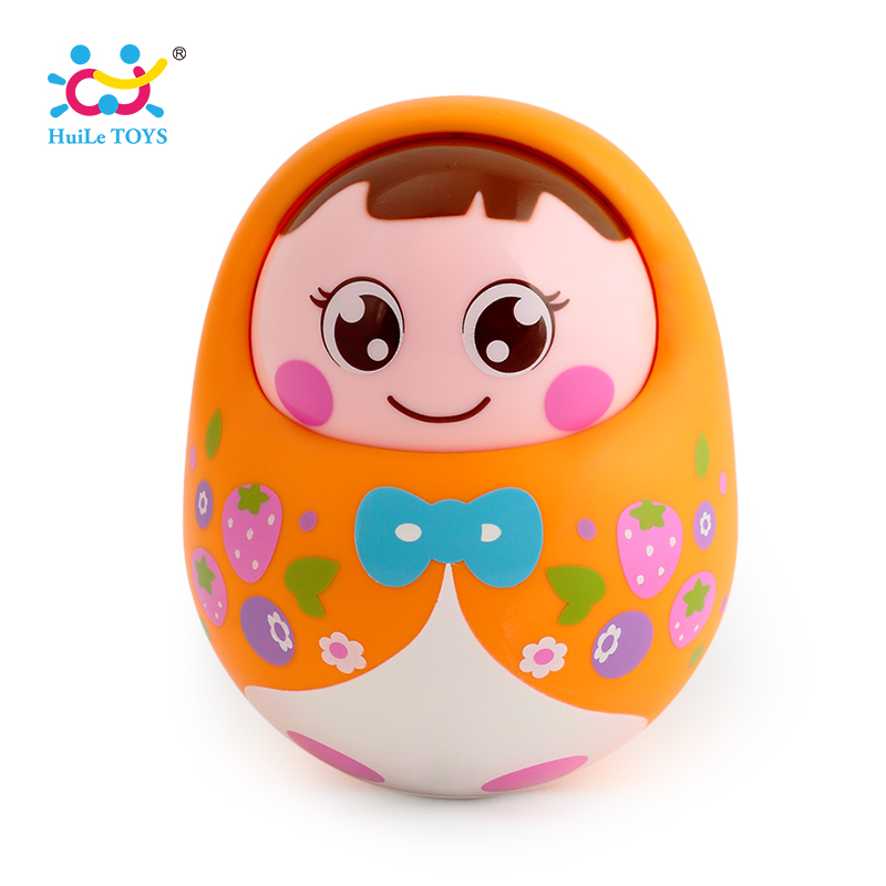 5pcs/Lot Baby Toy Tumbler Doll Mobile Musical Rattles Toys For Babies Newborns Roly-poly 5pcs lot hy62256alti 10 hy62256a ^