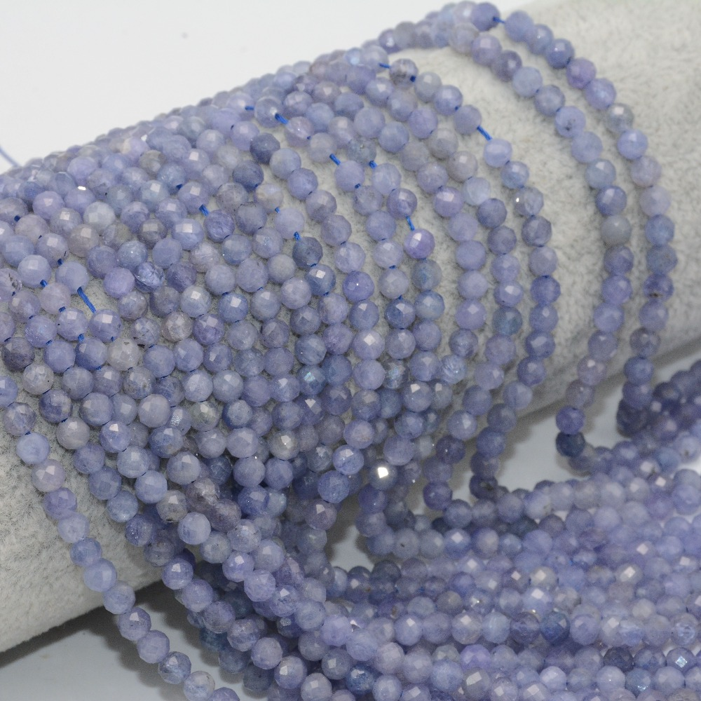 HTB1IdqGd3mH3KVjSZKzq6z2OXXap Natural Tanzanite Faceted Loose Round Beads 2.2mm / 3.5mm / 4mm