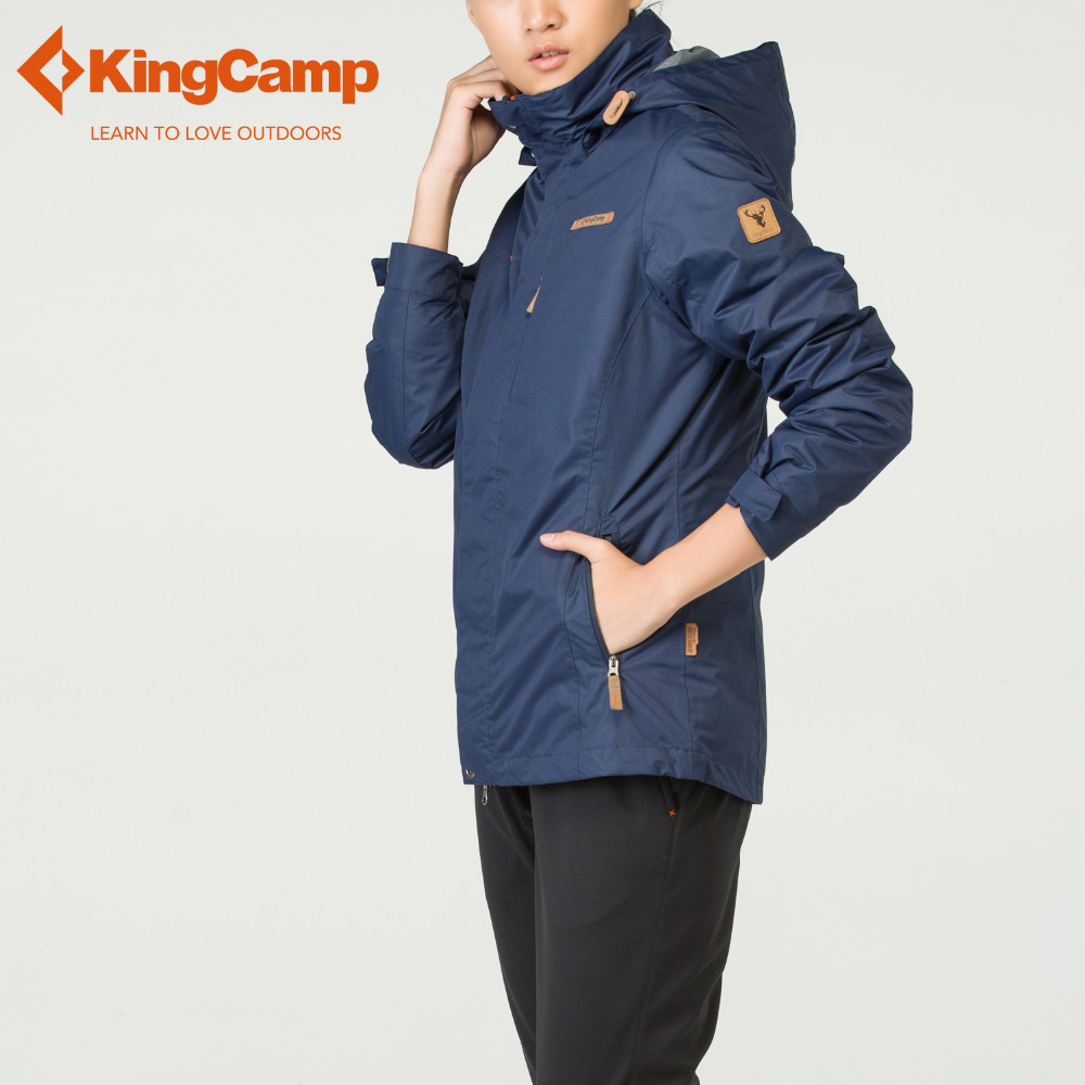 KingCamp Winter Outdoor 3 in 1 Jackets Womens Waterproof Thicken Mountain Jackets Slim Fit Coat 2