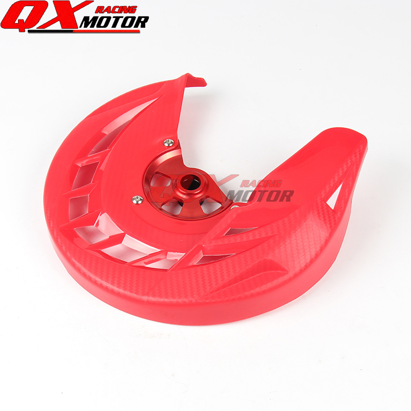 Motorcycle Front Brake Disc Rotor Guard Cover Protector For CR125 CR250 04-07 CRF250R CRF450R 04-16 MX Motocross Offroad bikingboy front brake disc rotor for hyosung gt 125 gt125 r naked 01 02 03 04 05 06 07 08 09 10 11 gt 250 gt250 comet 2003 2008