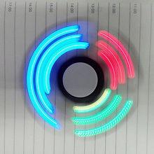 ใหม่ไฟLEDมือปั่นนิ้วอยู่ไม่สุข3D Figitปั่นEDCของเล่นสมาธิสั้นออทิสติกสนับสนุนการวางสินค้า