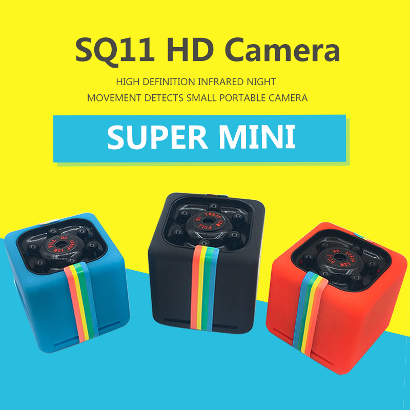 SQ11 Mini Camera HD 1080P Night Vision Camcorder Car DVR Infrared Video Recorder Sport Digital Camera Support TF Card DV Camera mini dv md80 dvr video camera 720p hd dvr sport outdoors with an audio support and clip