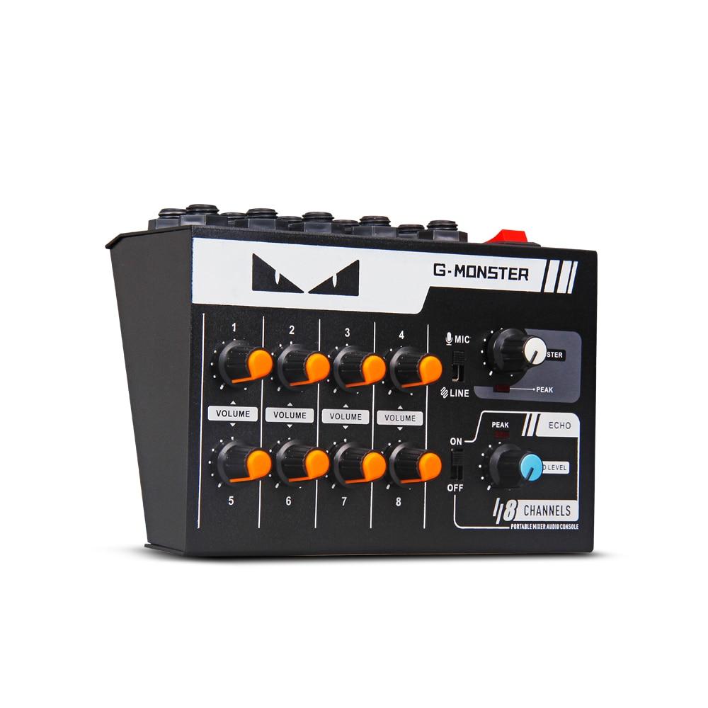 G-mark 8 Kanäle Mini Tragbare Mixer Audio Konsole Mono/stereo Sound System Erweiterte Für Instrument Mikrofon Gitarre Bass Tragbares Audio & Video Professionelle Audiogeräte