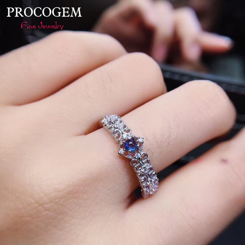 Pink /& Blue Marquise Sapphire 925 Silver Ring