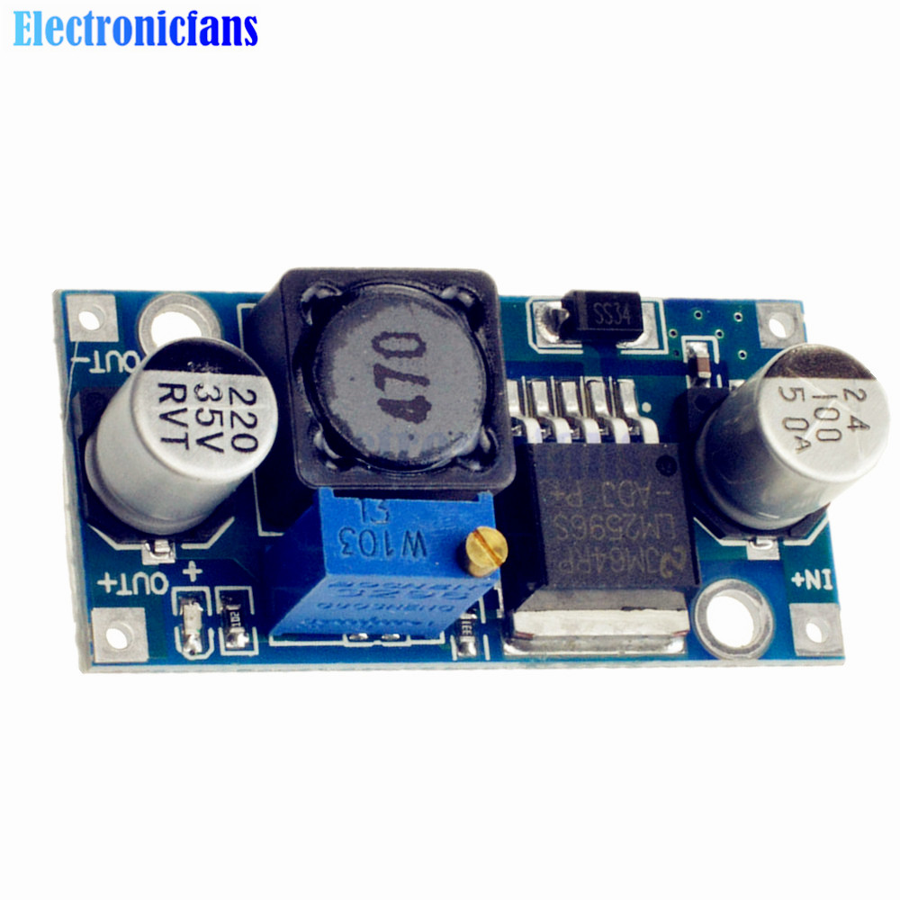NEW DC-DC adjustable power step-down module Blue LM2596 secadora de cabello nova