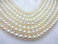 New Best-selling 8-9mm White Flawless Abacus Freshwater Shell Pearl Loose Beads jewelry Natural Stone 39-40cm Wholesale Price