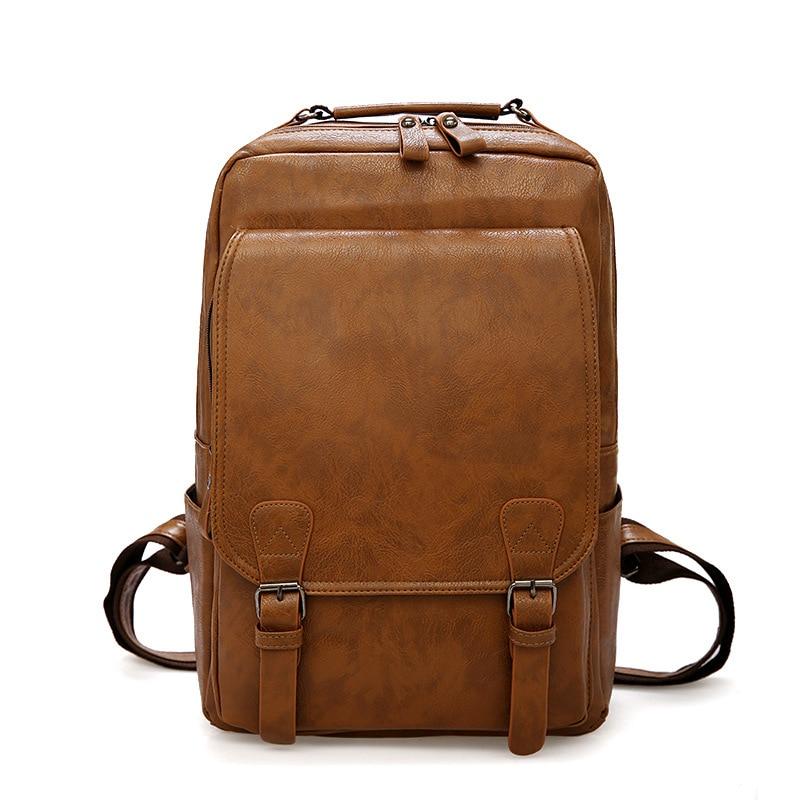 Sac à dos pour ordinateur portable école hommes sacs à dos en cuir homme loisirs étudiant en cuir sac à dos hommes sac Camping sacs à dos
