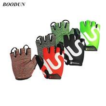 Cycling-Gloves Mitten Bicycle Road Bike-Racing BOODUN Half-Finger Fitness Mountain Sport