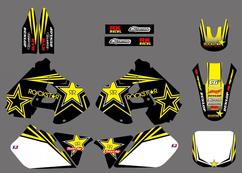Motorcycle NEW TEAM DECALS STICKERS Graphics For Suzuki RM125 RM250 RM 125 250 1999 2000 Motocross