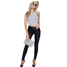 2018 Fashion Women Jeans,fitting High Waist slim Skinny woman Jeans,Faux leather jeans,stretch Female jeans,pencil pants C1075