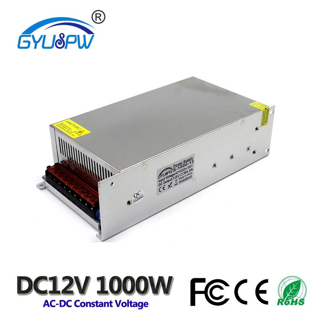12 V 1000 W 83.3A alimentation à découpage AC 110 V/220 V écran LED tension constante LED d'alimentation transformateur de puissance d'entraînement de lumière