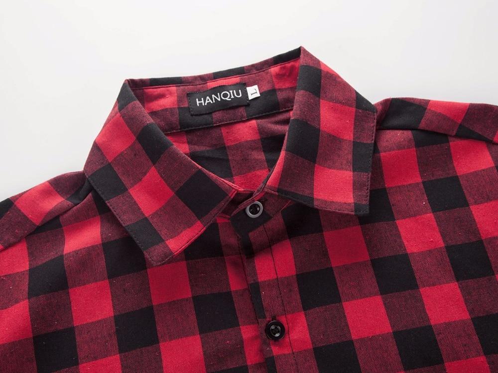 Red And Black Plaid Shirt Men Shirts 19 New Summer Fashion Chemise Homme Mens Checkered Shirts Short Sleeve Shirt Men Blouse 4