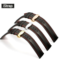 iStrap 18mm 19mm 20mm 21mm 22mm  Genuine leather Watchband Watch strap with Butterfly buckle Watch band for Tissot Casio Citizen
