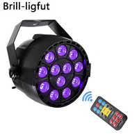 Auto sonido activo DMX512 maestro-esclavo 36 W UV LED de la etapa de luz ultravioleta luz negra Par luz de la lámpara del proyector para discoteca DJ Club