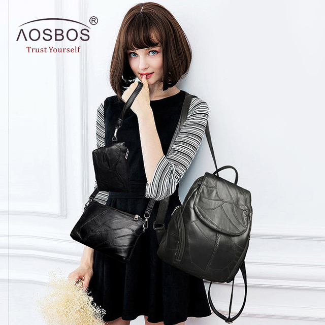 3 Pcs/Set Of Genuine Leather Bags For Women