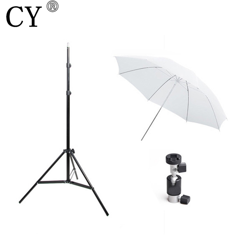 CY Photography Studio Kits Light Stand+Translucent White Umbrella+Flash Bracket Photo Studio Set