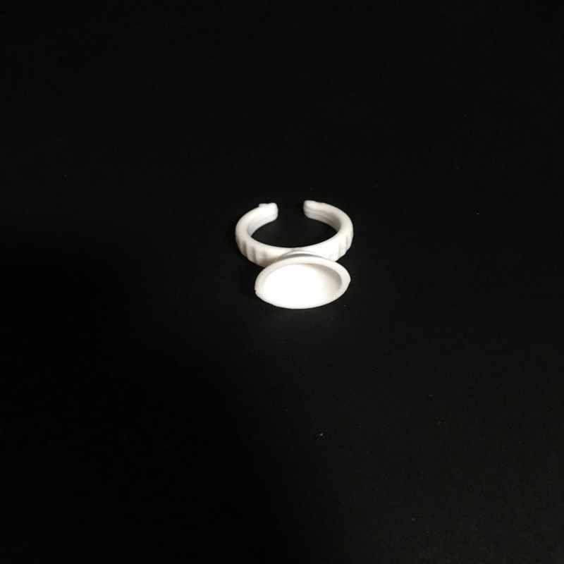 500 ชิ้นสีขาวทิ้งถ้วยแหวน Tattoo Pigments ถ้วยหมึกผู้ถือ Batoque Para Microblading Tattoo แต่งหน้าอุปกรณ์เสริม