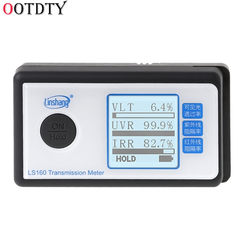 OOTDTY LS160 Portable Solar Film Transmission Meter Test Window Tint UV IR rejection visible light transmittance ls160 solar film tester portable solar film transmission meter measure uv visible and infrared transmission values