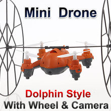 Mini Drone with Camera RC Quadcopter 2.4G 4CH 6 Axis LT-729 Aircraft Wall Climbing copter Best Gift for KIds FSWB