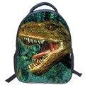 2016 Nova venda Quente 3D Dinossauros Jurassic world embossing pequenos meninos estudantes saco de escola mochilas viagem mochila crianças sacos