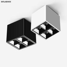 Новая мода Белый Черный Потолок 8 Вт светодиодный COB CREE маленький LED-светильник бизнес-отель Инженерная стена мыть лампа освещение салона