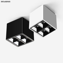 NEW fashion White Black Ceiling 8w LED COB CREE Small spotlight business hotel engineering wall wash lamp interior lighting cheap Doflamingos electronic LED Bulbs 110V 220V Mirror Downlights Grille Lamps MR16 Knob switch