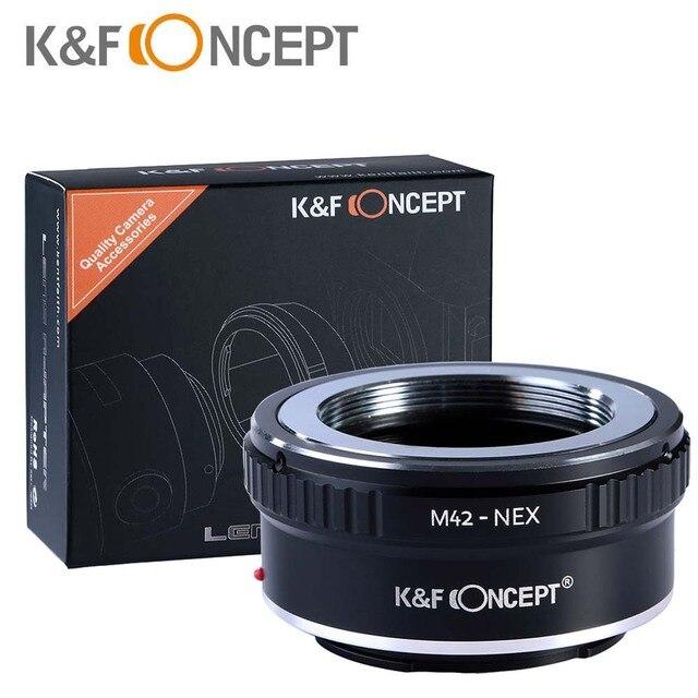 K&F Concept M42-NEX адаптер (переходное кольцо) для установки объектива с резъбой M42 на фатоаппараты с байонетом Sony NEX E  NEX NEX3 NEX5n NEX5t A7 A6000   бесплатная доставка