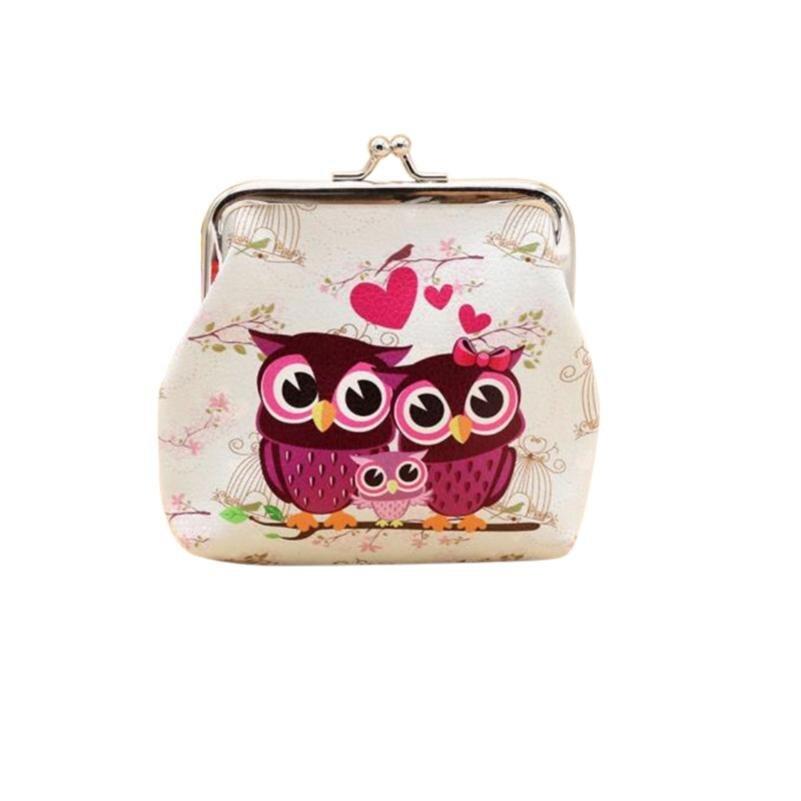 Hot Fashion Novelty Women Lady Retro Vintage Owl Small Wallet Hasp Purse Clutch Bag PU Leather Coin Purses femme #fa