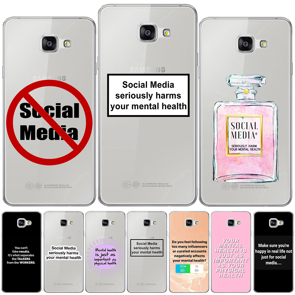 Social Media Seriously Soft <font><b>Case</b></font> <font><b>Cover</b></font> For <font><b>Samsung</b></font> <font><b>Galaxy</b></font> A3 A5 A7 2016 2017 A6 A8 Plus A9 Star A7 2018 A10 A20 A30 <font><b>A40</b></font> A50 A70 image