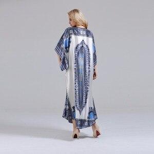 Image 4 - ユニークなdashikiageダイヤモンド襟見事なエレガントなアフリカdashiki女性ドレス