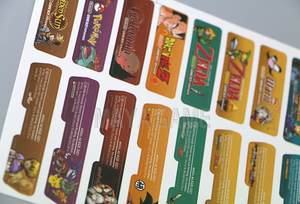 Image 4 - Lable Customer Design for Nintendo Gameboy Advance Label Sticker For GBA Console Back Tag 140pcs/lot=5sets