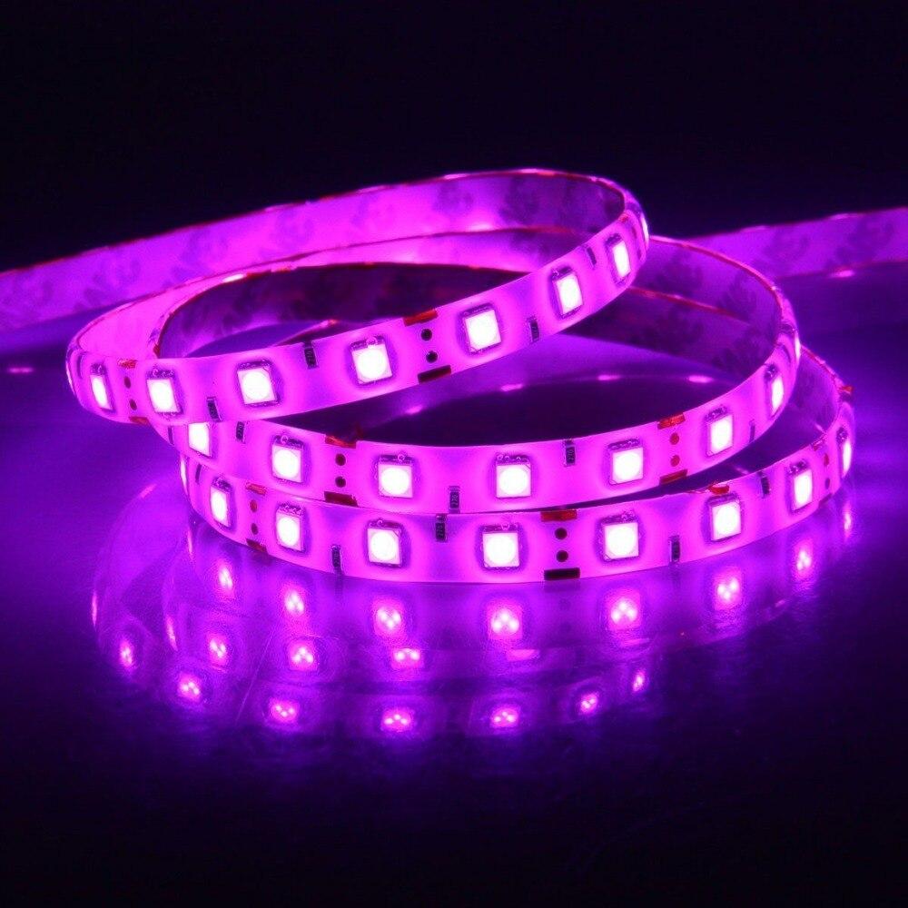 Tiras de Led luz 5050 cor rosa e Consumo de Energia (w/m) : 5.76w/m