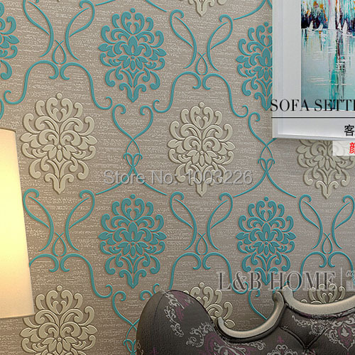 ФОТО beibehang Floral Wallpapers for living room Wall Covering Flower TV Bed Room Embossed Textured Wallpaper roll papel de parede