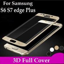Полное покрытие из закаленного стекла для samsung Galaxy S6 S7 Edge Plus чехол S 7 S 6edge стеклянная защитная пленка G9300 G9350 G9280 G925