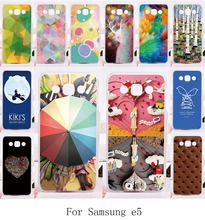 Romantic Pictures DIY Phone Shell for Samsung Galaxy E5 E500 SM-E500F E500H Cases Good Selling Hard and Silicon Painting Cover