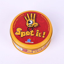 Spot Cards Game With Metal Box English Card Game Best Gift Family Gathering Imported Paper Produce Board Game Toy deep sea adventure board game with english instructions funny cards game 2 6 players family party game for children best gift
