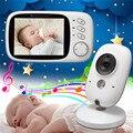 3.2 polegada detector fetal monitor do bebê IR Night vision 8 Canções de Ninar doppler fetal monitor de Temperatura 2 way Discussão baba eletrônica