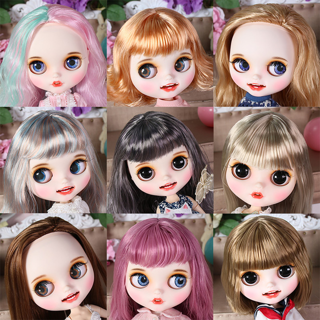 ICY Fortune Days factory blyth doll hand painted matte face white skin suit doll with teeth lips eyebrows 30cm DIY BJD SD gift