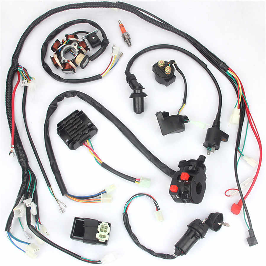 wiring harness kit for atv motorcycle wiring harness kit electrics wire loom assembly for gy6  motorcycle wiring harness kit electrics